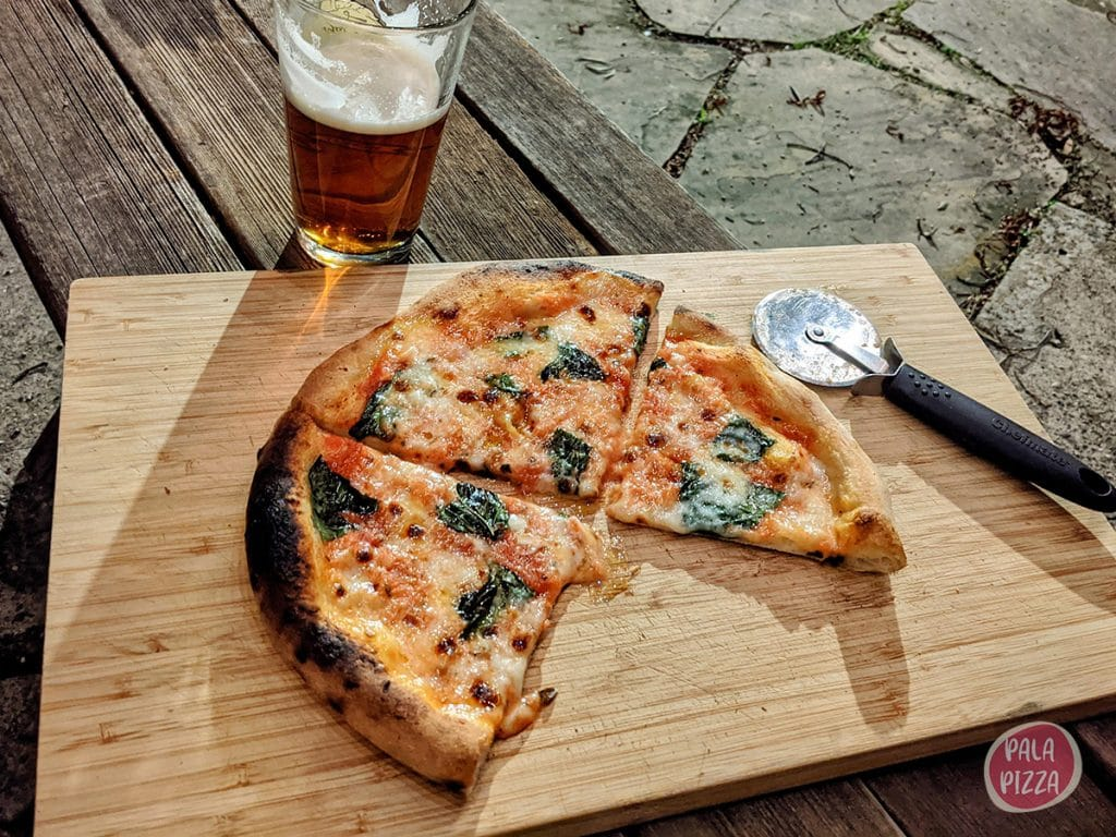 Pizza made in the Ooni Fyra oven